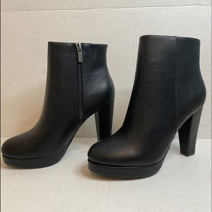 Black Bamboo High Heel Ankle boots